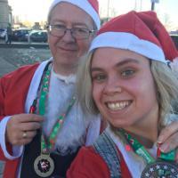 Santa Dash medals!